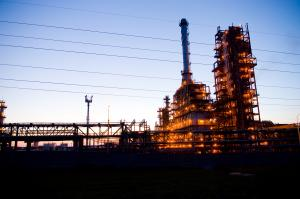 Industrial oil works